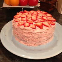 The ULTIMATE Strawberry Cream Cheese Frosting