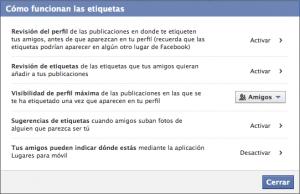 Etiquetas de Facebook