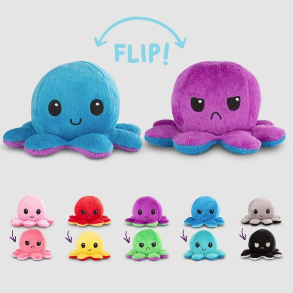 pulpo reversible de peluche teeturtle