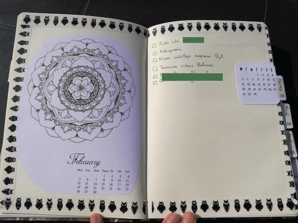bullet journal visión mensual