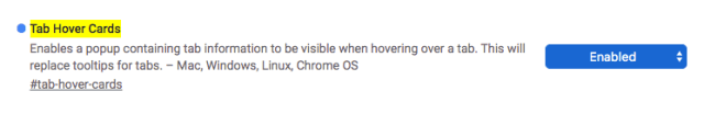 tab hover boards disabled google chrome