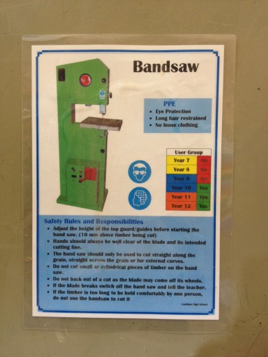 Band saw user group poster