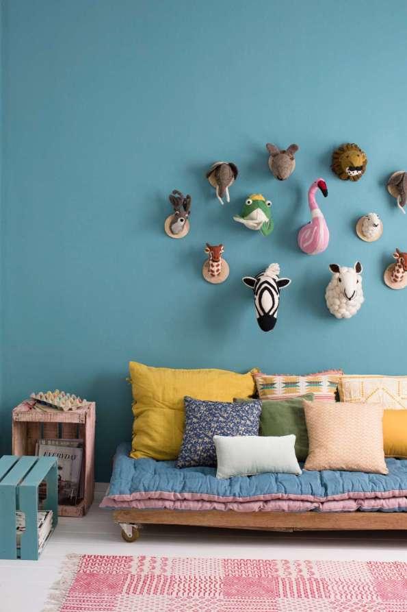 Habitación infantil pintada con línea Retro de Candence Tintanlux | Fuente: Titanlux