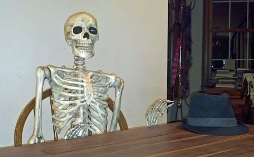 McCoy the skeleton, at my table