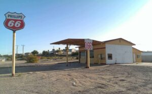 old filling station, gas at 66 cents