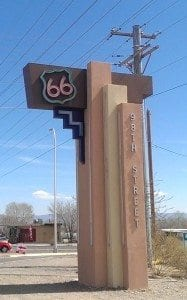 sign honoring Route 66
