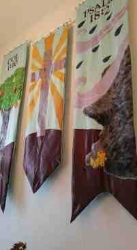 Banners by Kristie Good and Emily Wallin-Kale. Photo courtesy Alena Van Arendonk.
