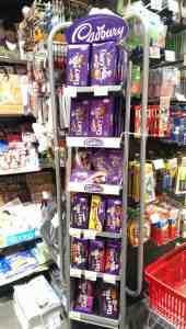 rack of Cadbury chocolate bars