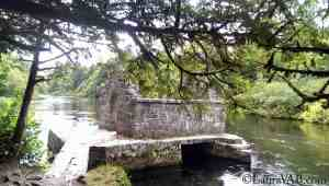 roofless building over water