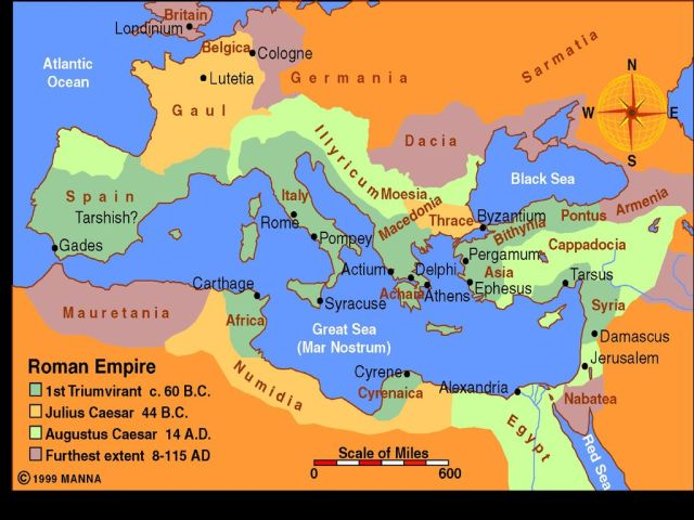 Map of Roman Empire 1st Century
