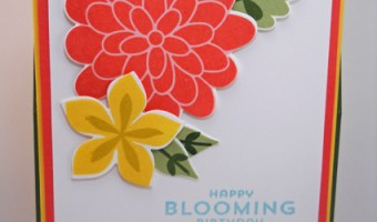 A Blooming Easel Card