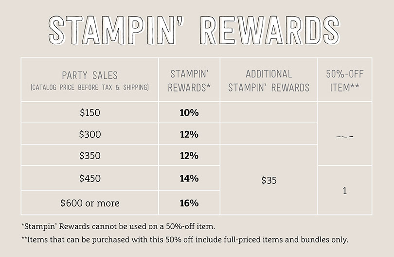 Stampin' Up! Hostess Rewards