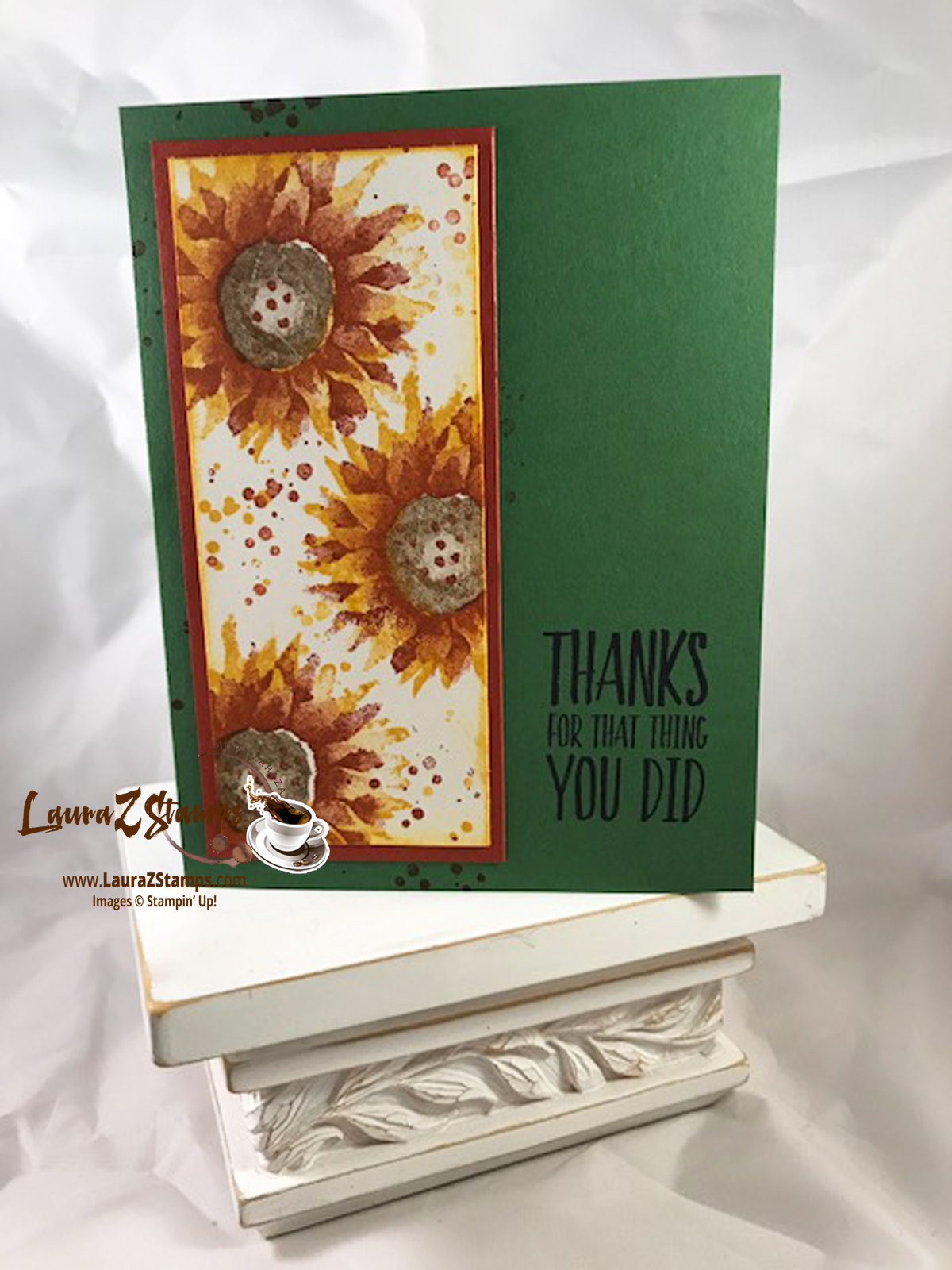 Thanks Painted Harvest Card