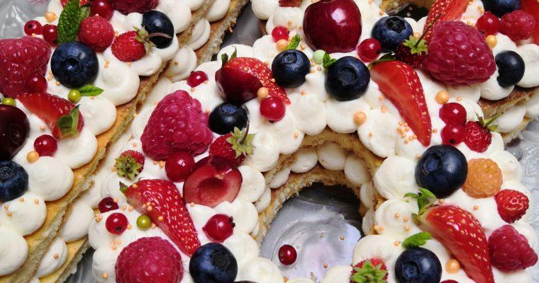 Number cake ( avec ou sans gluten)
