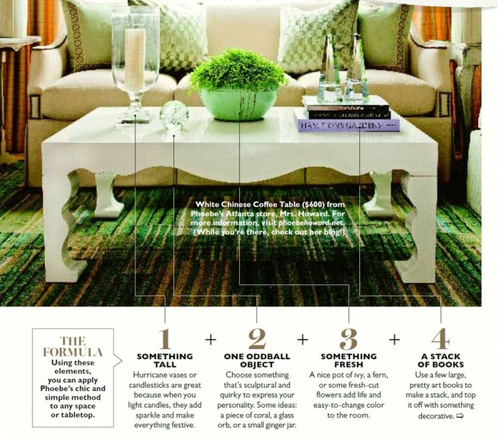 how to style a coffee table and how not