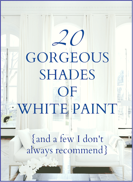 20 gorgeous shades of white paint  Laurel Home