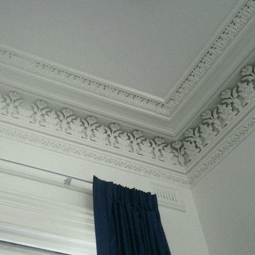 Why Do We Fall Bruce Wallpaper Plaster Ceiling Design Architectural Mouldings Laurel Home
