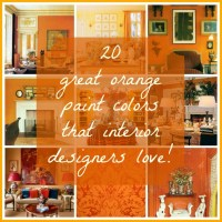 20 {Great} Shades of Orange Wall Paint {and Coral, Apricot ...