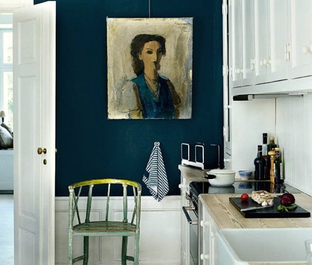 Jeannette Whitson Hague Blue Kitchen White Cabinets Room Appear