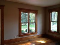 The Stained Wood Trim Stays - 16 Wall Colors To Make It ...