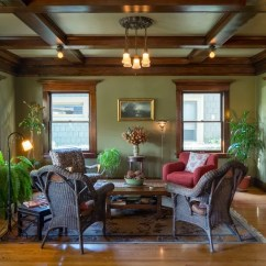 Living Room Paint Colors With Oak Trim Diy Canvas Art For The Stained Wood Stays 16 Wall To Make It Sing Untoldla Com Dark Craftsman Home