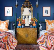 House Beautiful Bedroom Blue
