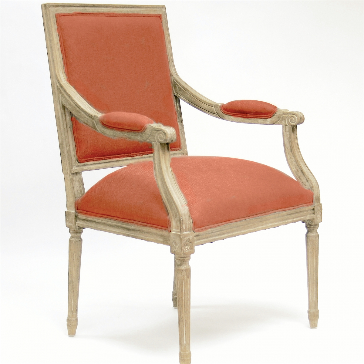 Coral Chair 900 Coral Zentique Inc Louis Fabric Arm Chair B008 E272