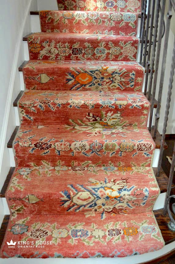 Stair Runners And The One Fiber You Should Never Use | Printed Carpet For Stairs | High Traffic | Gray | Karastan Patterned | Georgian | Middle Open Concept