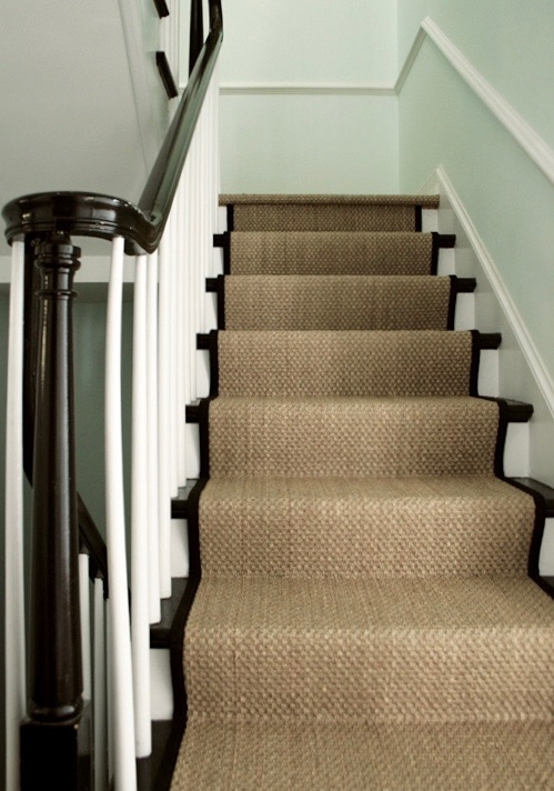 A Bad Fiber For A Stair Runner A Difficult Staircase Laurel Home   Carpet Runners For Stairs And Landing   Carpet Hampton Style   Hallway   Stair Runner Matching Landing   Fitted   Farmhouse
