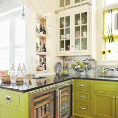 Colorful Kitchen Cabinets Ninja Com 12 Of The Hottest Trends Awful Or Wonderful Laurel Home Chartreuse Green And White