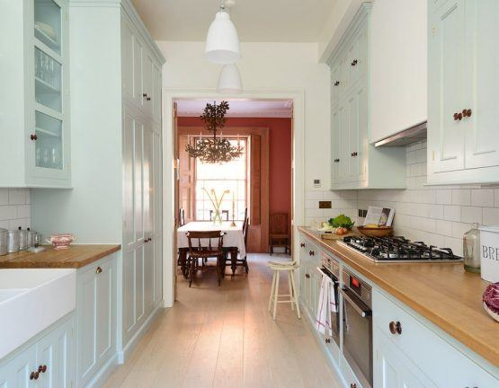 white subway tile counters