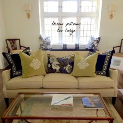 Living Room Decorative Pillows House Beautiful The Little Known Truth About Throw Laurel Home Too Large
