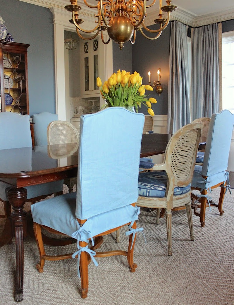slipcovered living room chairs vintage wood chair my is a mess but i can t afford new upholstery laurel home custom slipcovers by shelley over old uphostery
