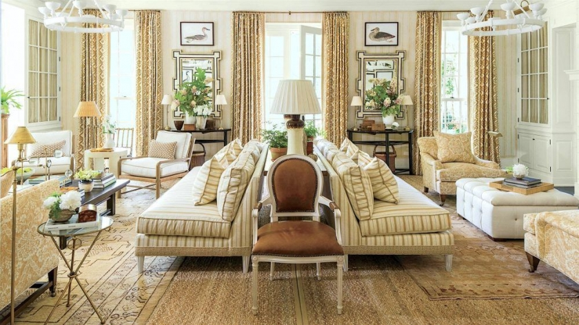 living room fabrics yellow and blue ideas a designer s secret for mixing fabric patterns in laurel home mark d sikes exquisite