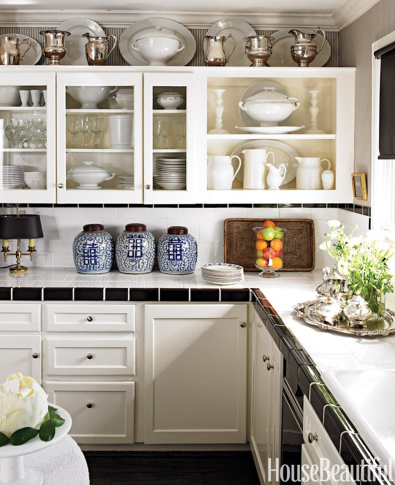 decor for kitchen cabinets san diego the tricks you need to know decorating above laurel home craig schumacher