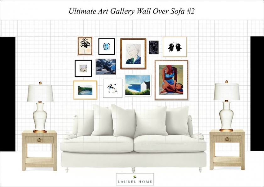 sofa art gallery sailors it s here the ultimate wall hack aka template for an 84