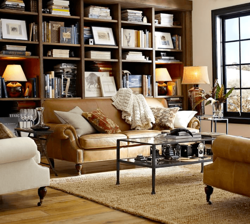 leather sofa like pottery barn comprar sofas baratos bilbao brooklyn from warm color scheme laurel home