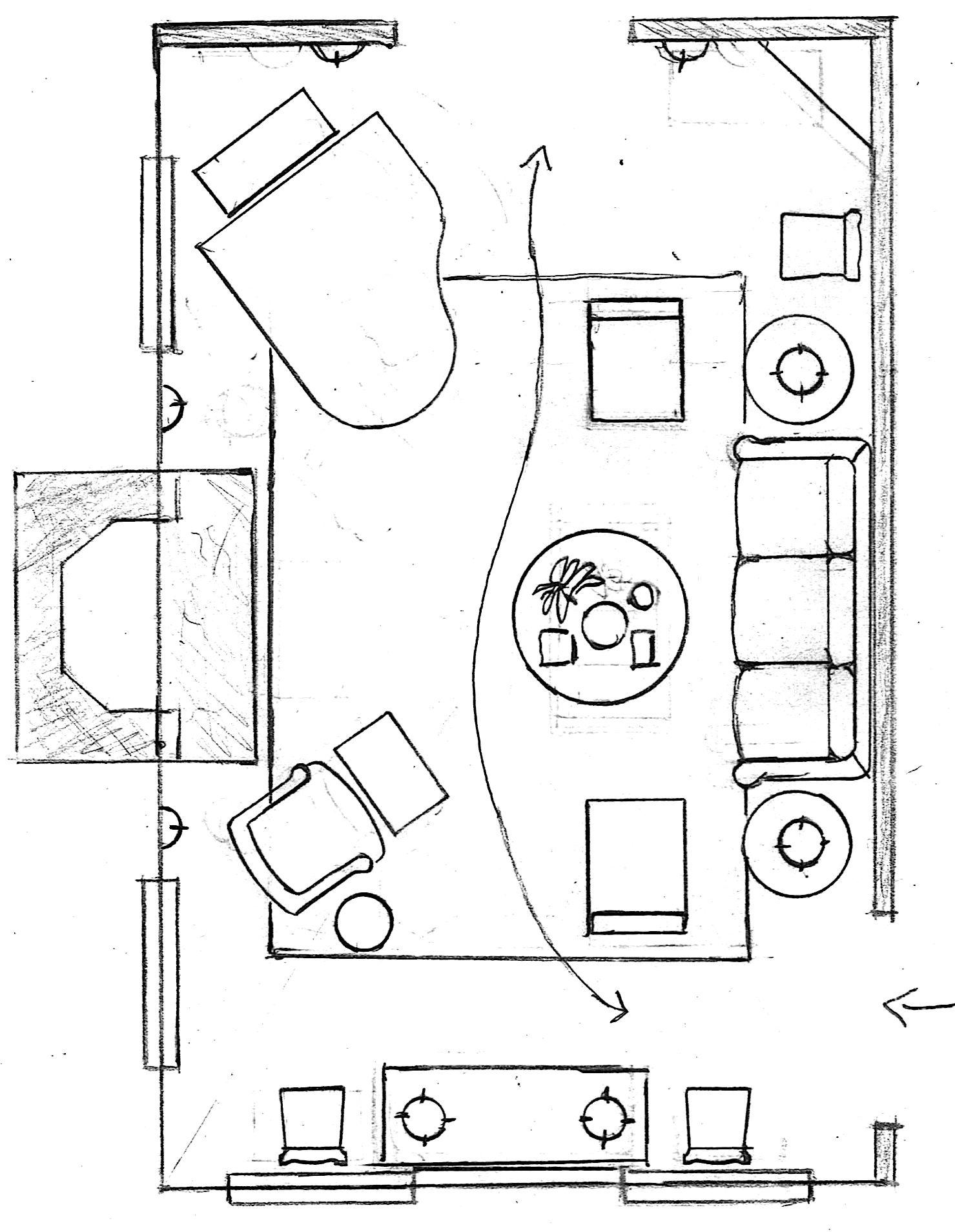 Living Room Floor Plan Piano
