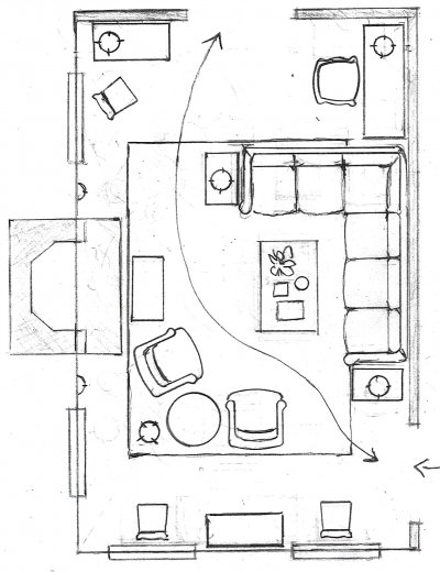 One Living Room Layout Seven Different Ways Laurel Home