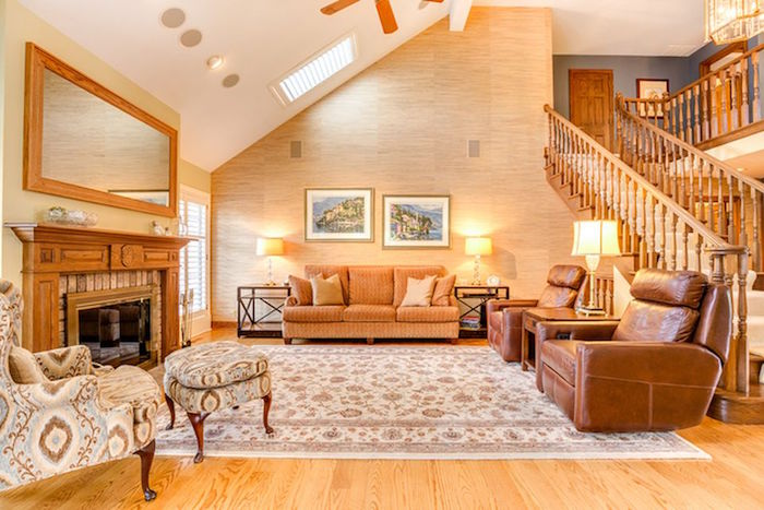 paint colors for living rooms with white trim room chairs target the perfect shade of wall oak laurel home