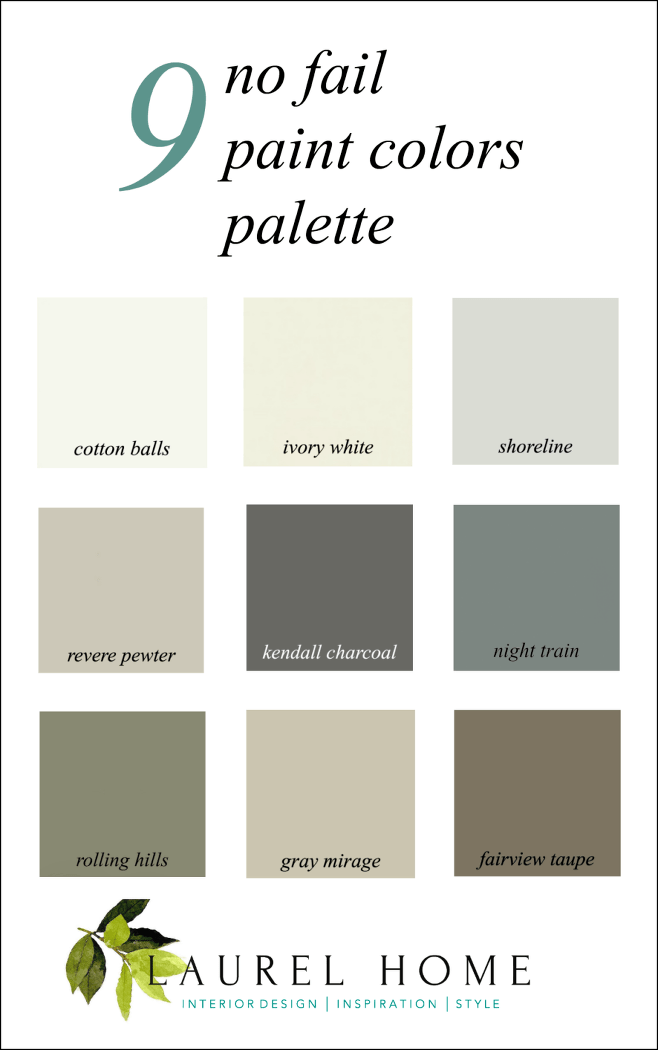 Here it is A Palette For NoFail Paint Colors  Laurel Home