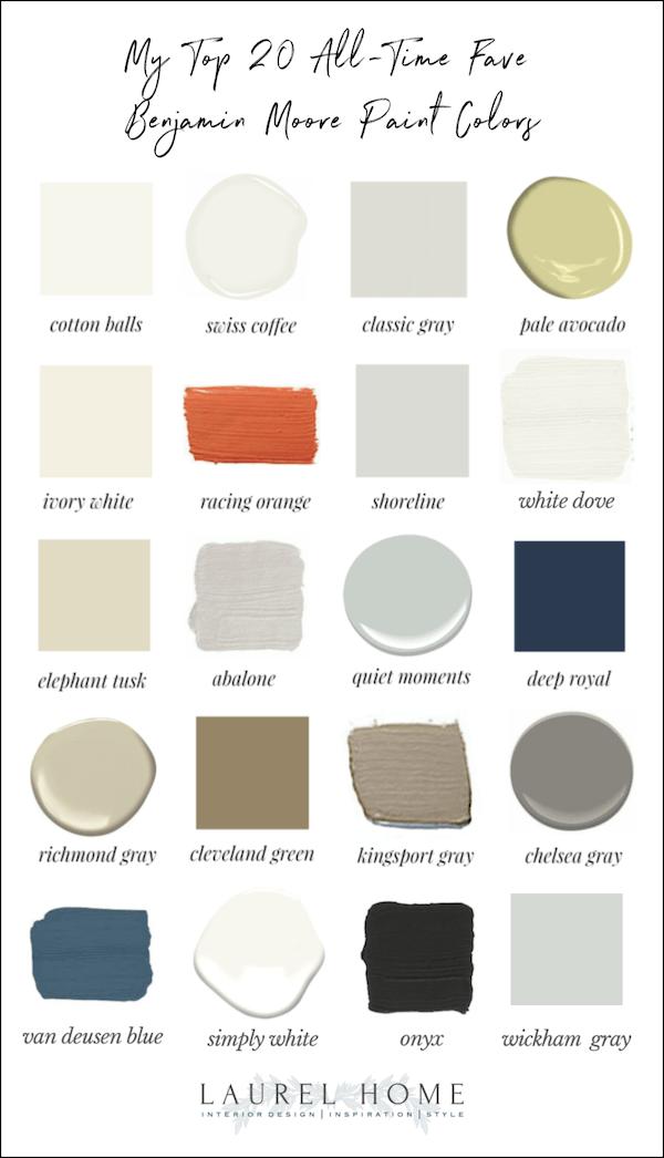 favorite benjamin moore paint colors