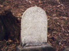 John Lancaster and Family Gravesite (behind family home)
