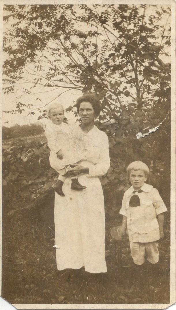 Hannah Shawgo McCoy, Holding Anna, and John