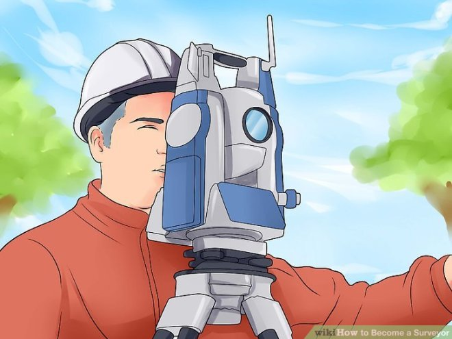 cartoon image of a surveyor