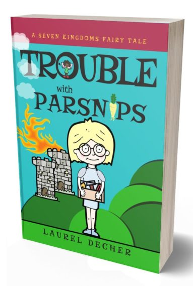 paperback of Trouble With Parsnips a middle grade story about speaking up