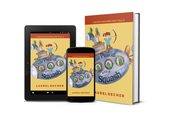 Under Pressure with a Squash on tablet, phone, and hardcover