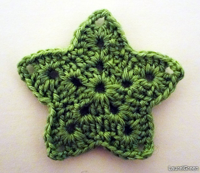 a photo of a crocheted star