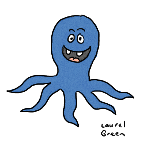 a drawing of an octopus