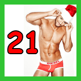santa in his underpants and the number 21